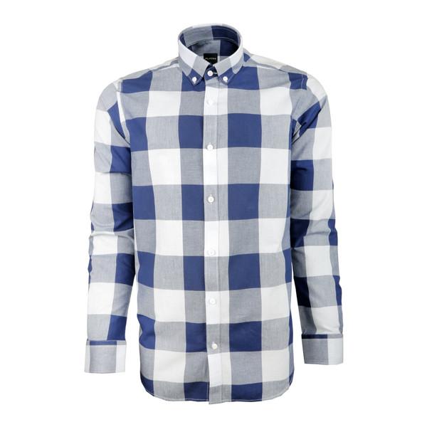 پیراهن مردانه پلاتین طرح چهارخانه کد 1028