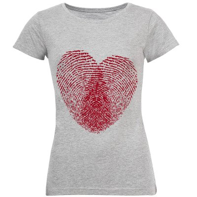تی شرت زنانه طرح قلب کد S161