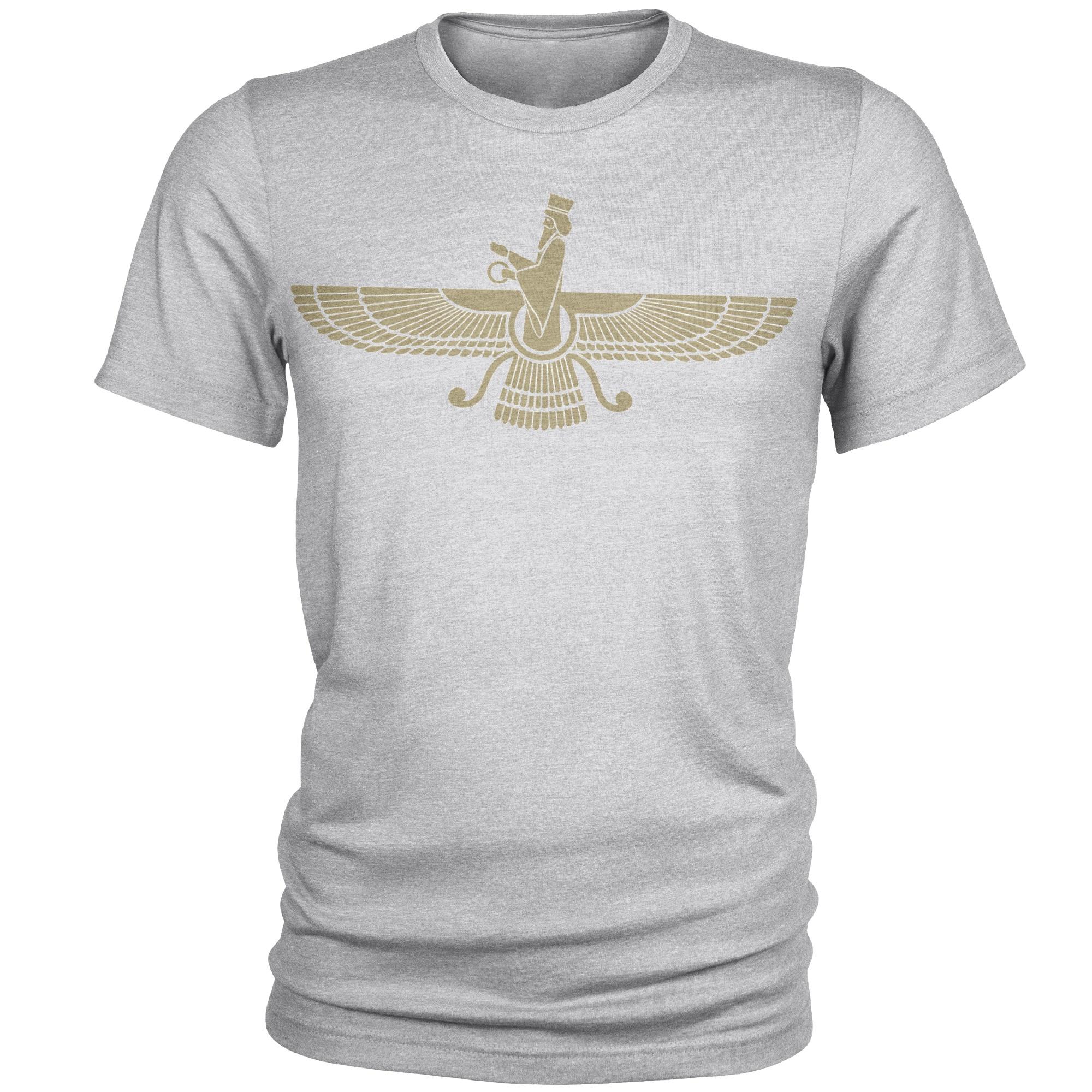 تی شرت مردانه طرح فروهر کد C37