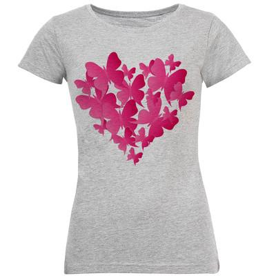 تی شرت زنانه طرح پروانه کد S159