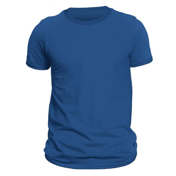 تیشرت آستین کوتاه مردانه فروشگاه دی سی کد DC-1TBU رنگ آبی