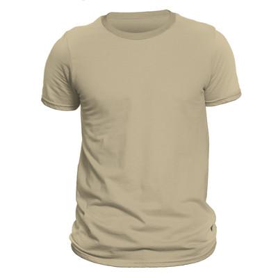 تیشرت آستین کوتاه مردانه کد DC-1FCR رنگ کرم