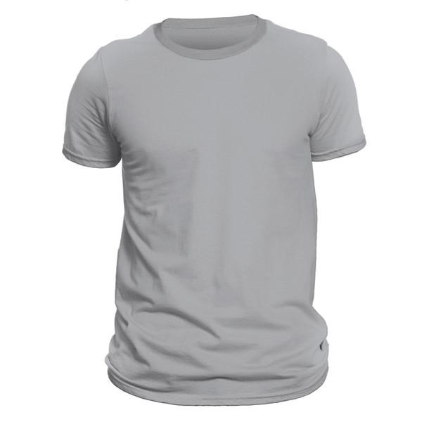 تیشرت آستین کوتاه مردانه کد DC-1QGY رنگ طوسی روشن