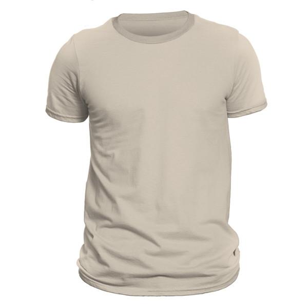 تیشرت آستین کوتاه مردانه کد DC-1WCR رنگ کرم روشن