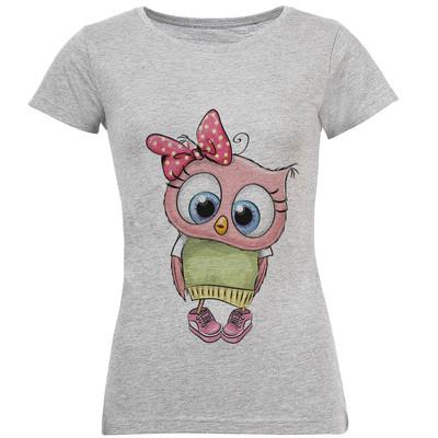 تی شرت زنانه طرح جغد دختر کد S205