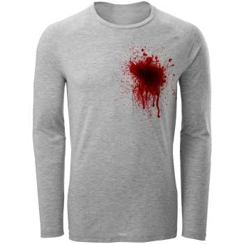 تی شرت آستین بلند مردانه طرح Blood کد AL79