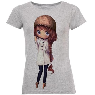 تی شرت زنانه طرح دختر کد B133