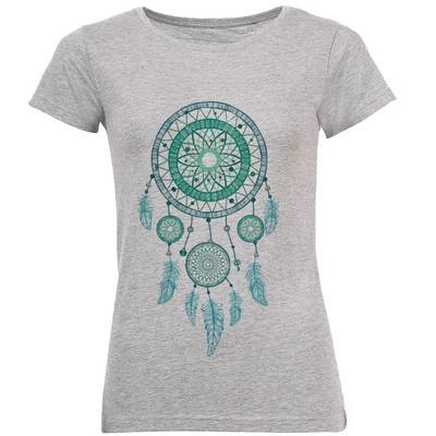 تصویر تی شرت زنانه طرح blue dream catcker کد C111