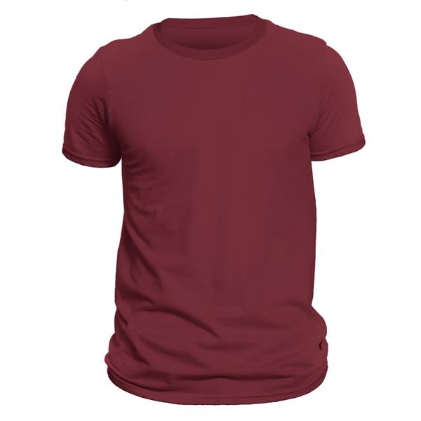 تیشرت آستین کوتاه مردانه فروشگاه دی سی کد DC-1BRD رنگ زرشکی