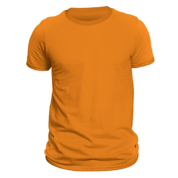 تیشرت آستین کوتاه مردانه کد DC-1TOR رنگ نارنجی