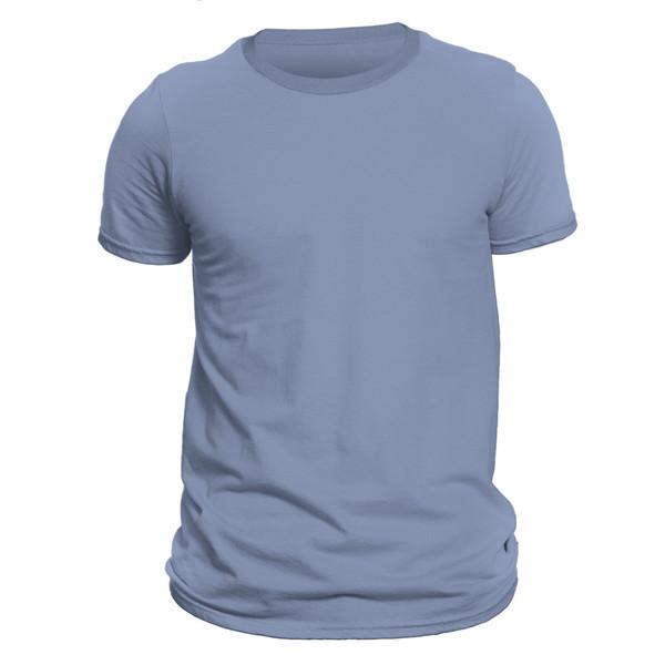 تیشرت آستین کوتاه مردانه کد DC-1LBU رنگ آبی روشن
