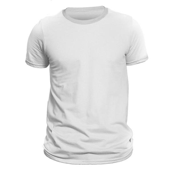 تیشرت آستین کوتاه مردانه دی سی کد DC-1BWH رنگ سفید