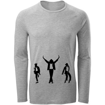تصویر تی شرت آستین بلند مردانه طرح مایکل جکسون کد C76