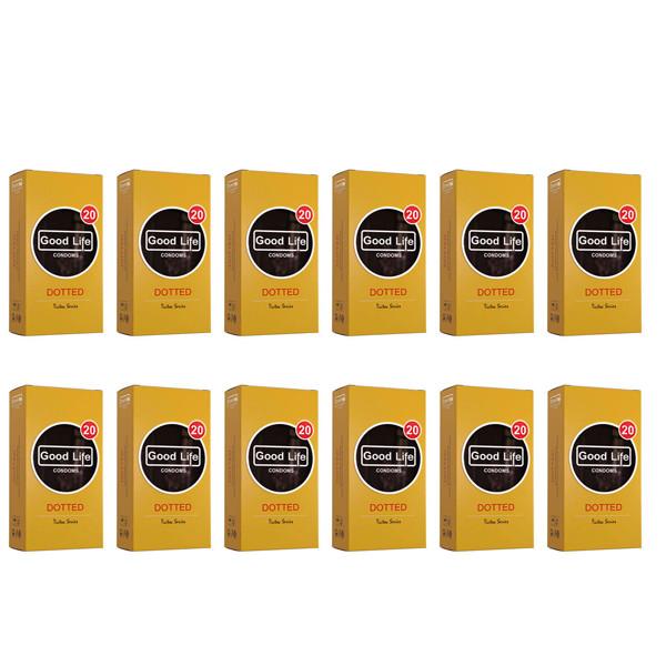 کاندوم گودلایف مدل DOTTED مجموعه 12 عددی