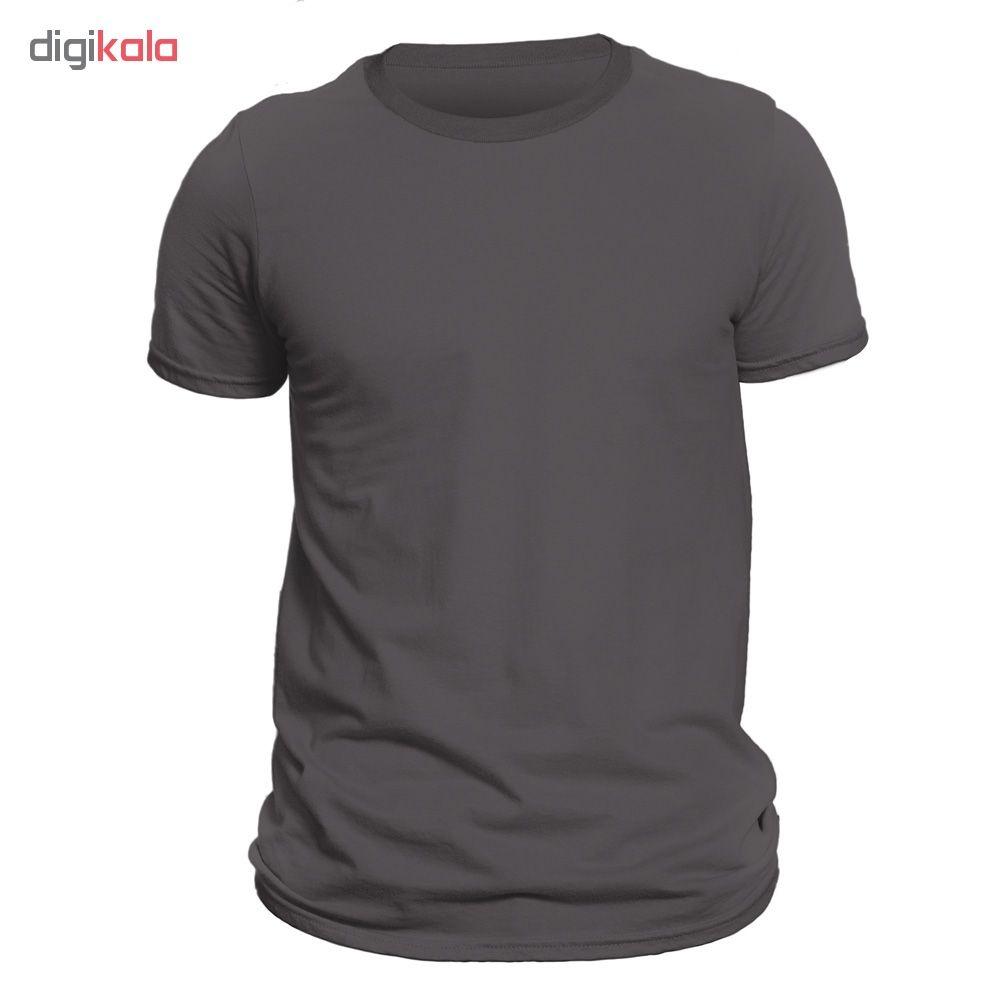 تیشرت آستین کوتاه مردانه فروشگاه دی سی کد DC-1PGY رنگ نوک مدادی main 1 5