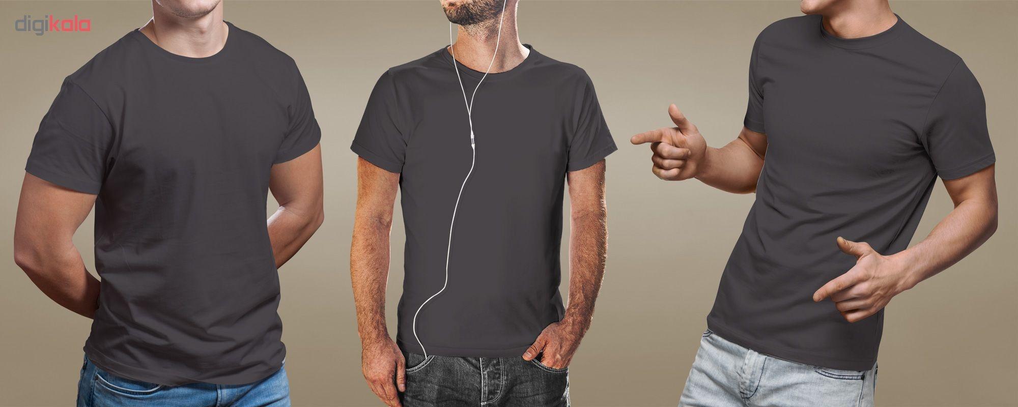 تیشرت آستین کوتاه مردانه فروشگاه دی سی کد DC-1PGY رنگ نوک مدادی main 1 2