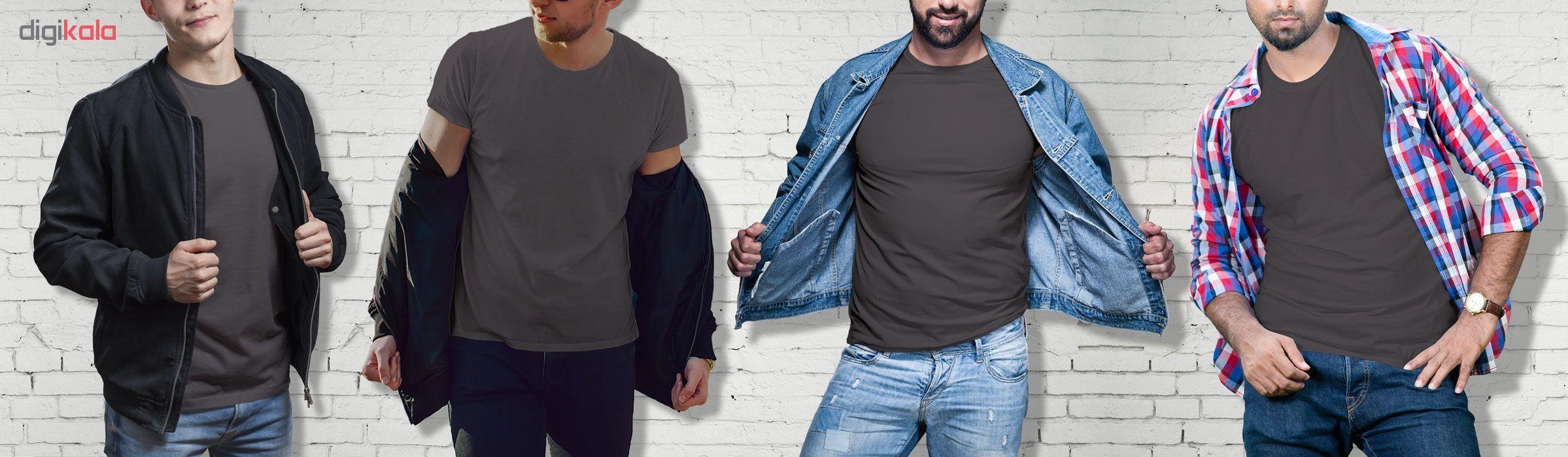 تیشرت آستین کوتاه مردانه فروشگاه دی سی کد DC-1PGY رنگ نوک مدادی main 1 3