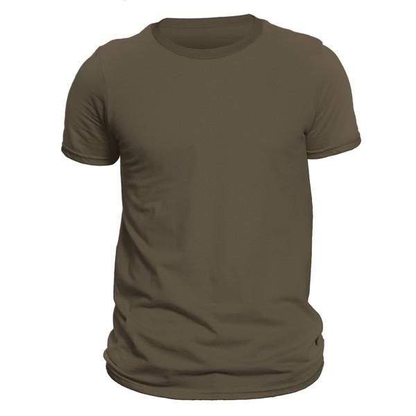 تیشرت آستین کوتاه مردانه کد DC-1BOL رنگ زیتونی