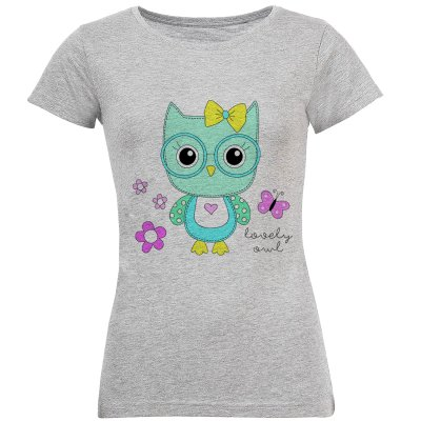 تصویر تی شرت زنانه طرح جغد کد S204