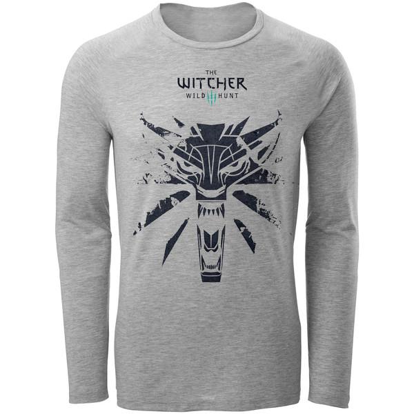 تی شرت آستین بلند مردانه طرح Witcher کد AL85