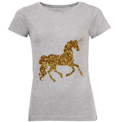 Photo of تی شرت زنانه طرح تک شاخ طلایی کد B153