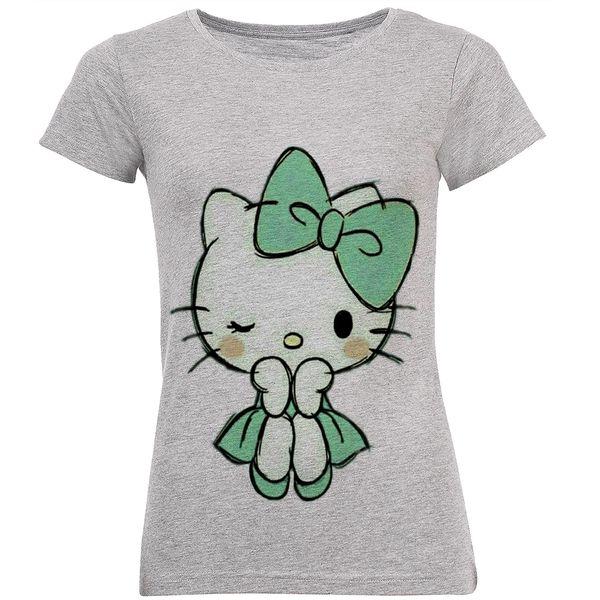 تی شرت زنانه طرح کیتی کد B157