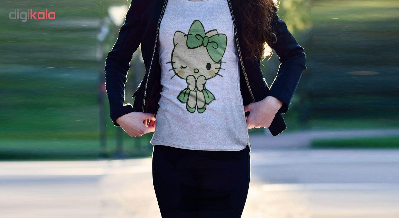 تی شرت زنانه طرح کیتی کد B157 main 1 2