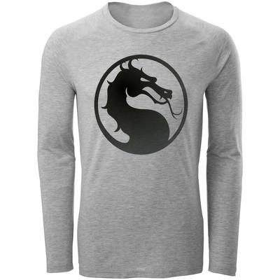 تی شرت آستین بلند مردانه طرح Mortal Combat کد AL69