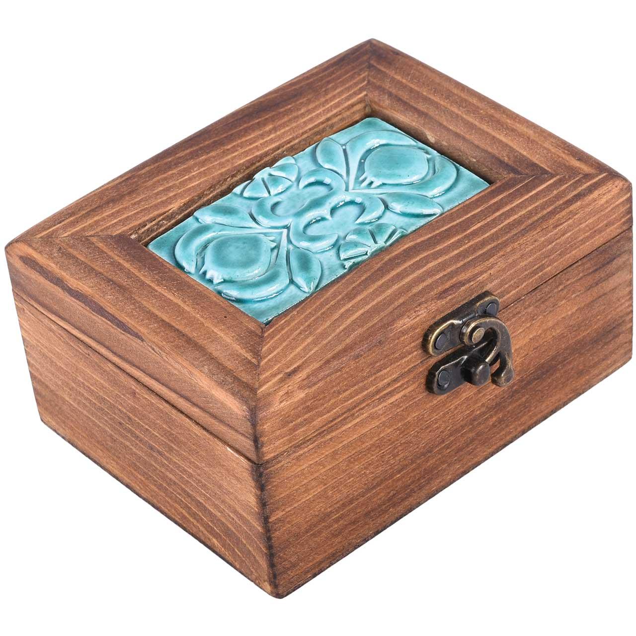 عکس جعبه هدیه طرح گل انار کد 03-11