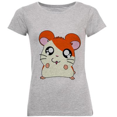 تصویر تی شرت زنانه طرح همستر کد B164