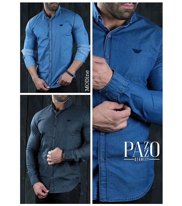 پیراهن مردانه پازو کد L-B main 1 3