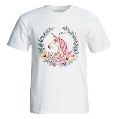 Photo of تی شرت آستین کوتاه زنانه  طرح یونی کورن کد 4870