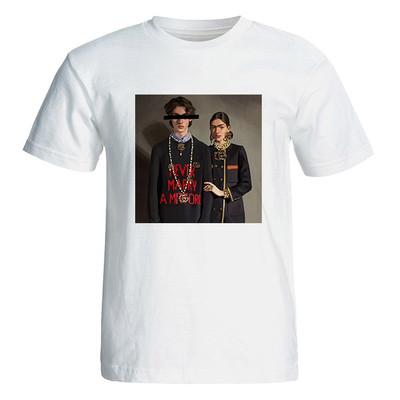 تصویر تی شرت آستین کوتاه زنانه  طرح فانتزی کد 4885