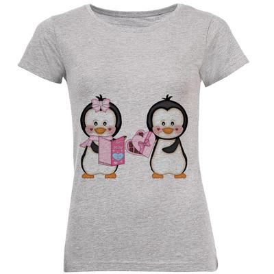 تی شرت زنانه طرح پنگوئن کد B169