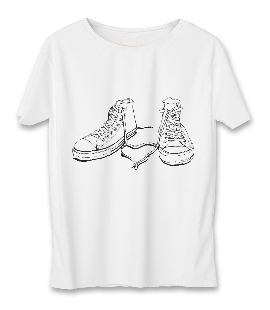 تصویر تی شرت مردانه به رسم طرح آل استار کد 3322
