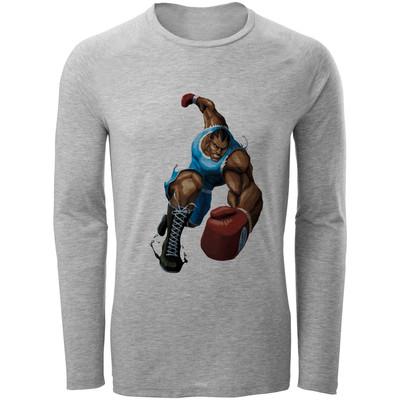 Photo of تی شرت  آستین بلند مردانه  طرح مبارز کد B231