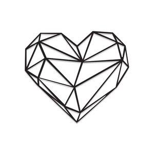استیکر چوبی طرح قلب کد E-223