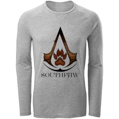 تصویر تی شرت آستین بلند مردانه طرح  assassin's creed کد B203