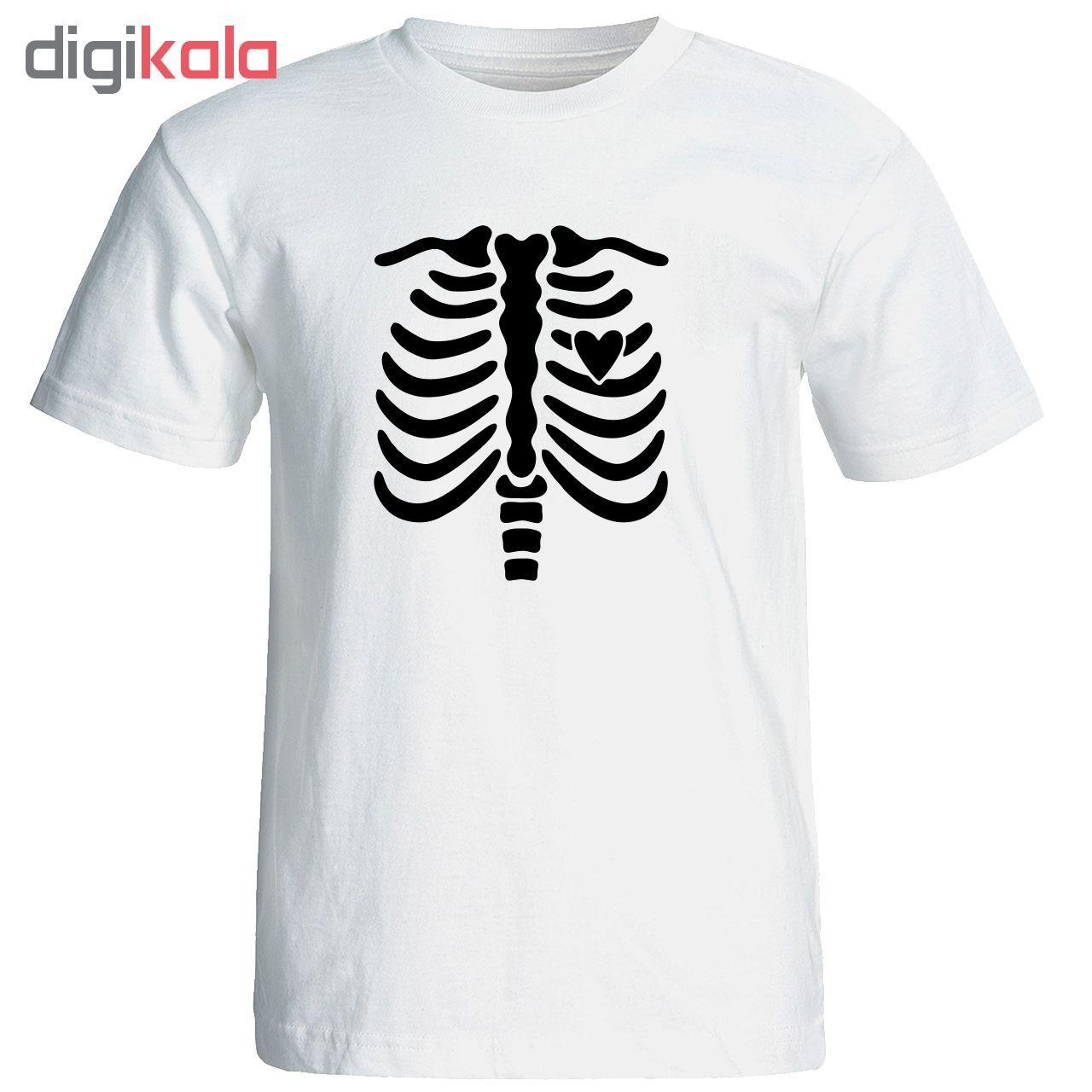 تی شرت آستین کوتاه مردانه طرح اسکلت کد 23083