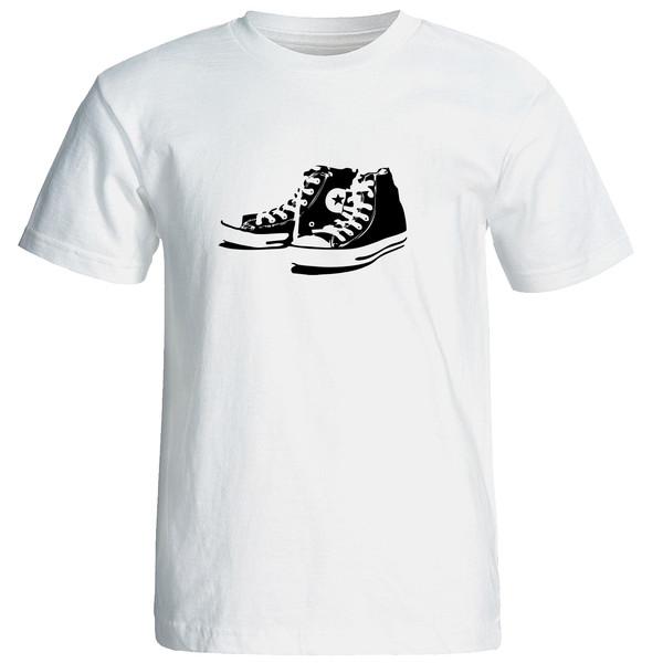 تی شرت آستین کوتاه مردانه طرح کتانی کد 23058