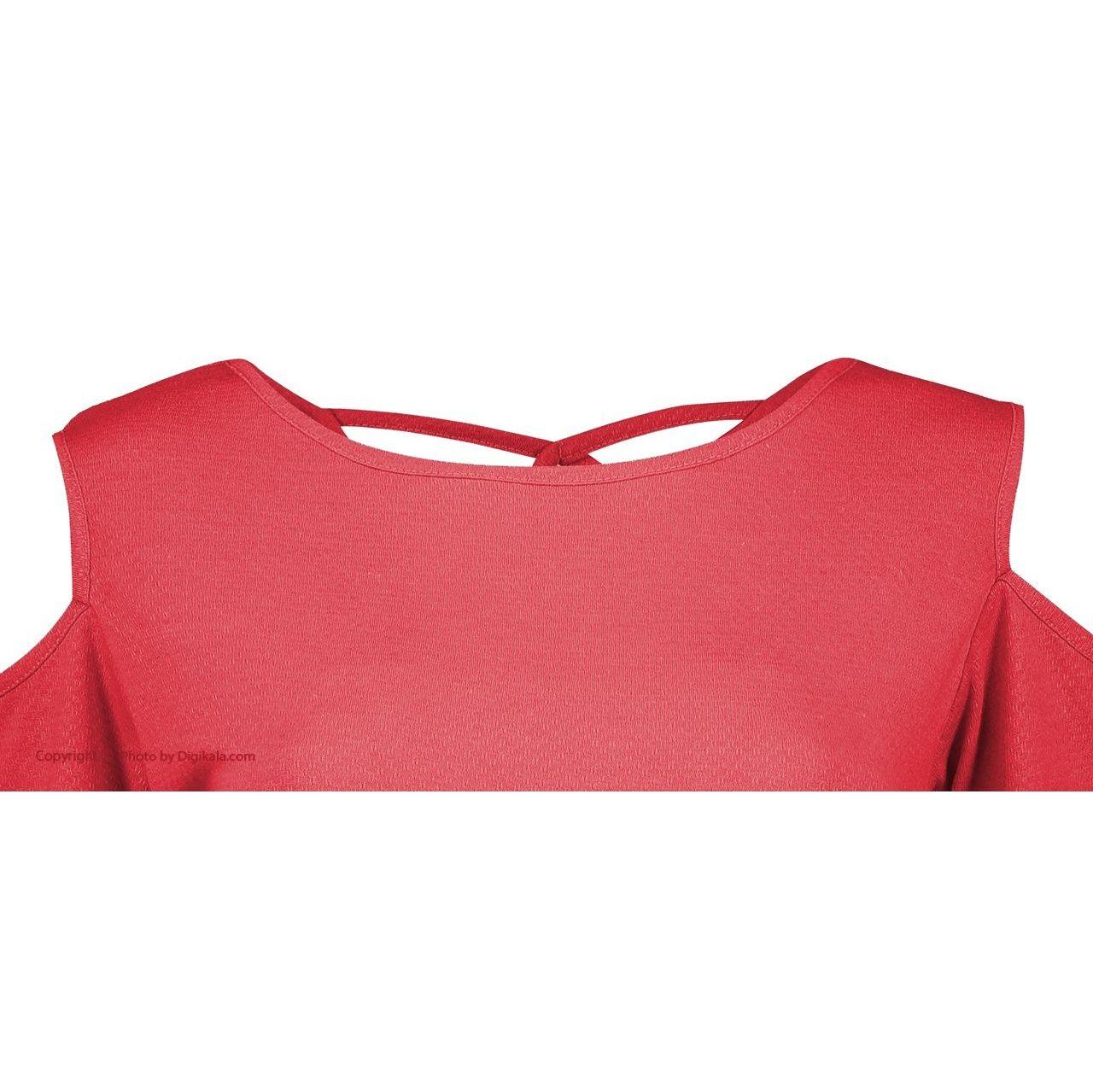 بلوز زنانه افراتین کد 2526-3 رنگ قرمز -  - 2