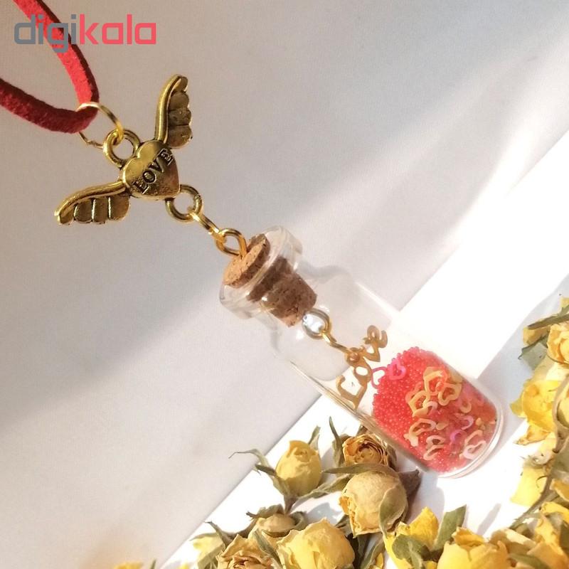 گردنبند طرح بطری عشق کد pf81
