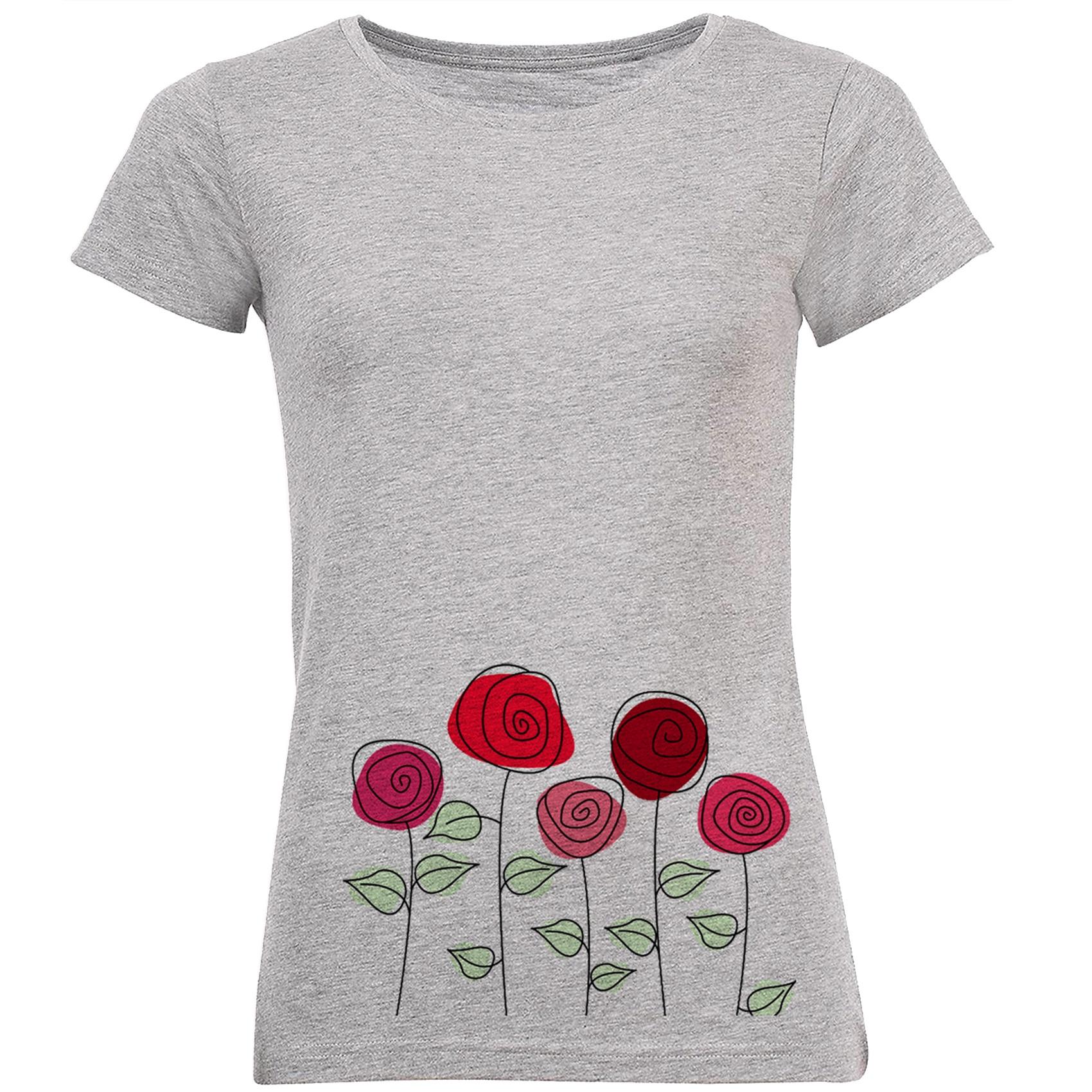 خرید تی شرت زنانه طرح گل