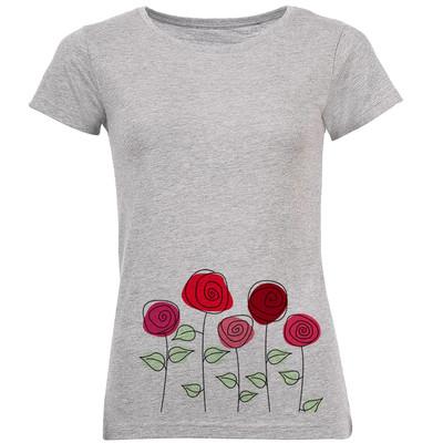 تصویر خرید تی شرت زنانه طرح گل