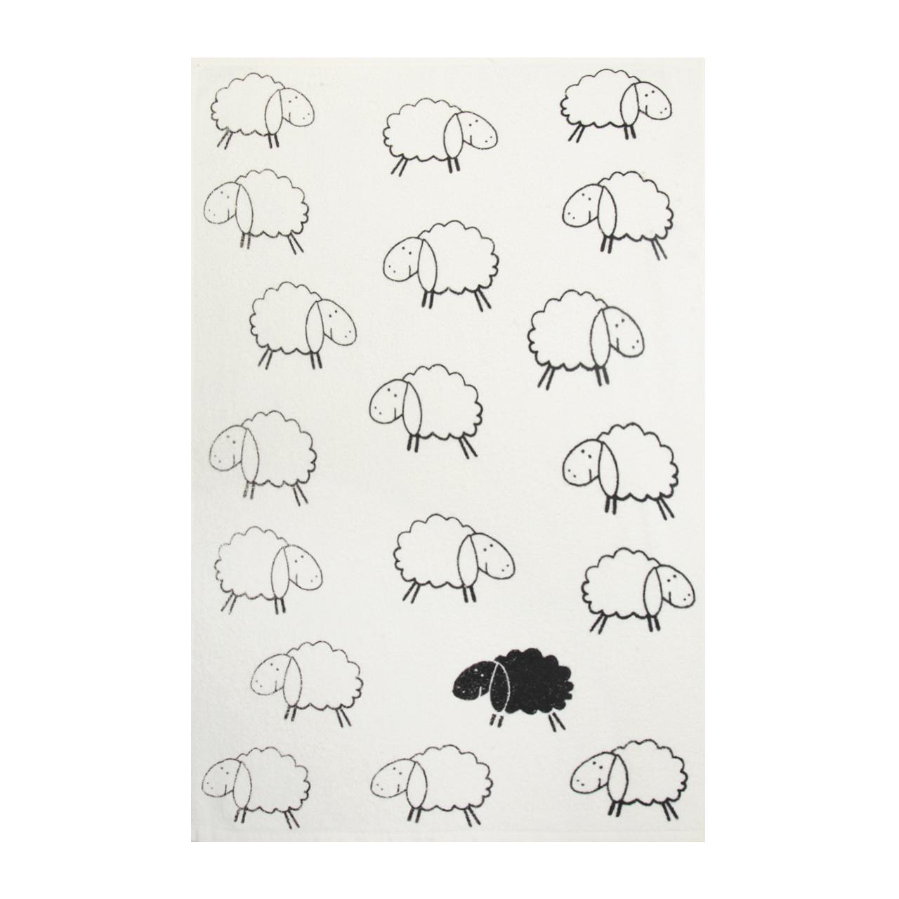 حوله آشپزخانه آکیپک مدل گوسفند سایز 40x60 سانتیمتر
