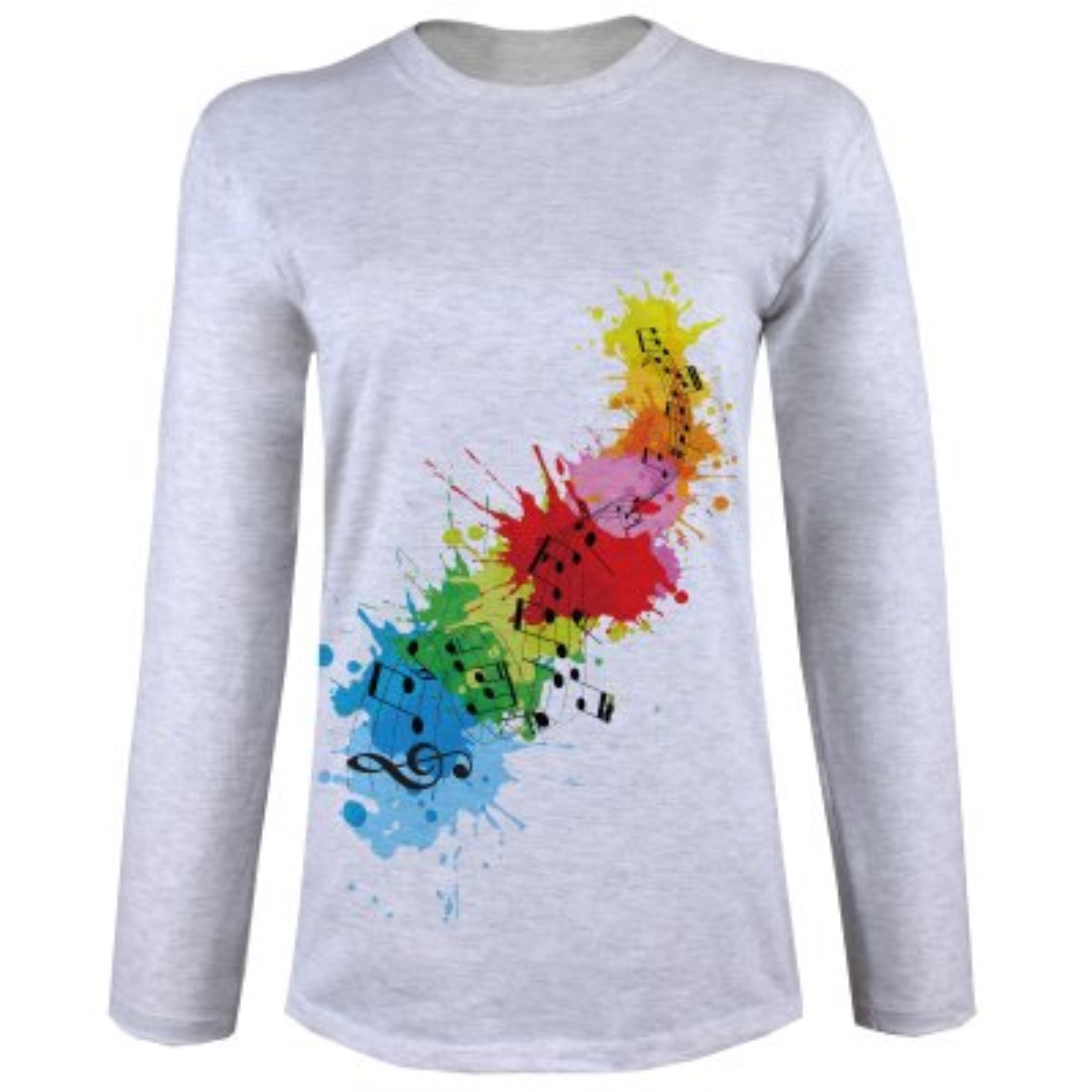 Photo of تی شرت  آستین بلند زنانه  طرح موزیک کد B75