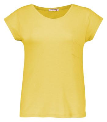 تصویر تی شرت زنانه افراتین کد 3-2515 رنگ خردلی