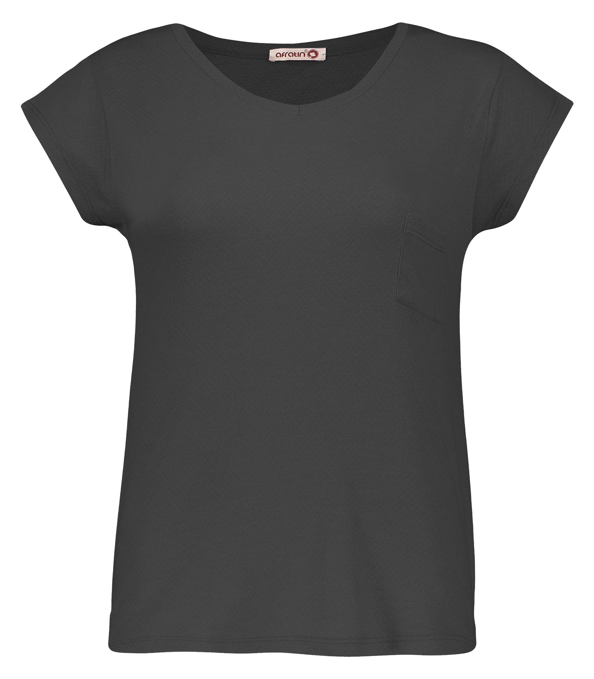 تصویر تی شرت زنانه افراتین کد2515/3 رنگ خاکستری