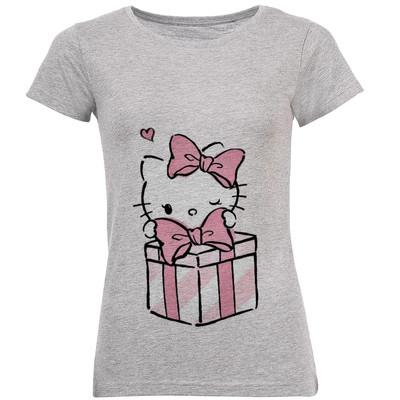 Photo of تی شرت زنانه طرح کیتی و جعبه کادو  کد B165