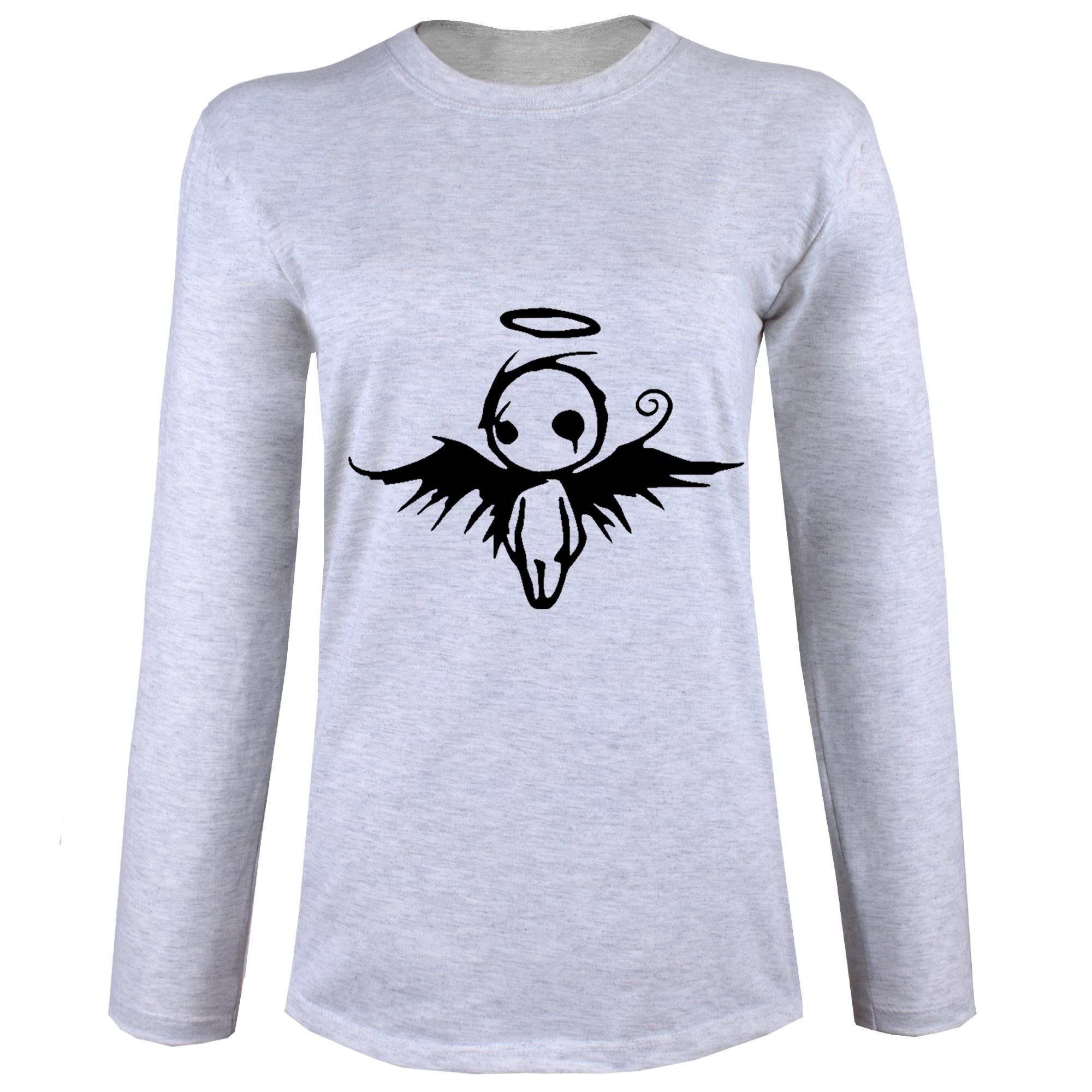 تی شرت آستین بلند نه طرح فرشته کد B12